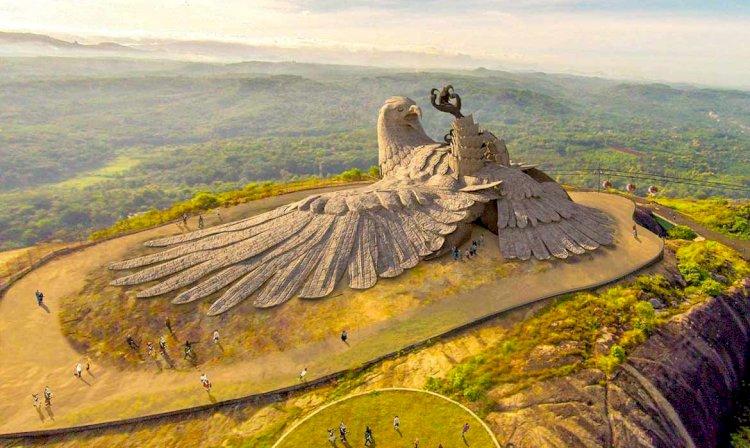 Jatayupura - World Largest Bird Sculpture in Gods Own Country - Kerala